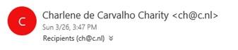 Charlene de Carvalho Charity email